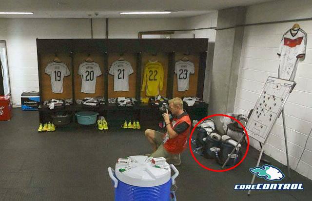 サッカードイツ代表チーム/ブラジルワールドカップのロッカールーム